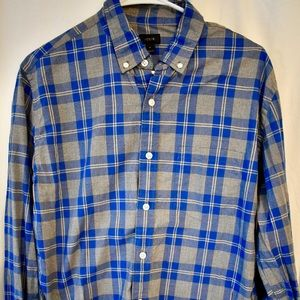 J. Crew Light Cotton Plaid Button long sleeve